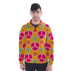 Shapes in retro colors pattern Wind Breaker (Men)