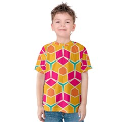 Shapes in retro colors pattern Kid s Cotton Tee