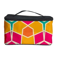 Shapes In Retro Colors Pattern Cosmetic Storage Case