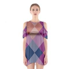 Argyle variation Women s Cutout Shoulder Dress