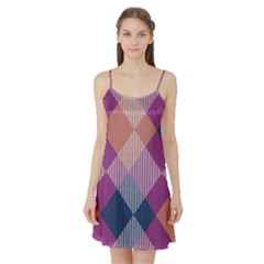 Argyle Variation Satin Night Slip