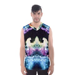 Space Cosmos Black Blue White Red Men s Basketball Tank Top