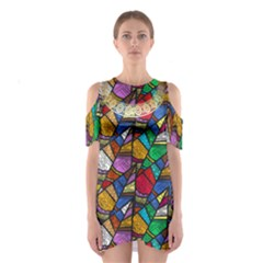 tribal11 Women s Cutout Shoulder Dress