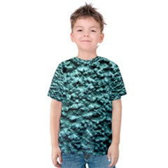 Blue Green  Wall Background Kid s Cotton Tee