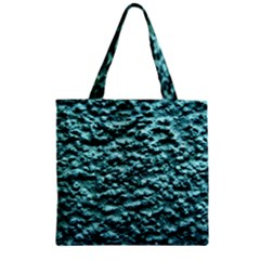 Blue Green  Wall Background Zipper Grocery Tote Bags