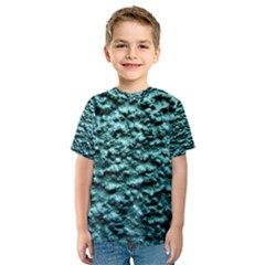 Blue Green  Wall Background Kid s Sport Mesh Tees
