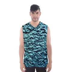 Blue Green  Wall Background Men s Basketball Tank Top