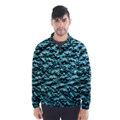 Blue Green  Wall Background Wind Breaker (Men)
