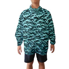 Blue Green  Wall Background Wind Breaker (Kids)