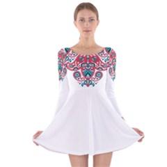 25432721 [Converted]-01 Long Sleeve Velvet Skater Dress