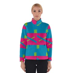Rectangles and diagonal stripes Winter Jacket
