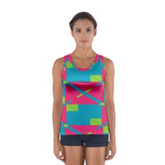 Rectangles and diagonal stripes Women s Sport Tank Top