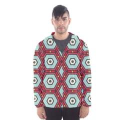 Hexagons pattern Mesh Lined Wind Breaker (Men)