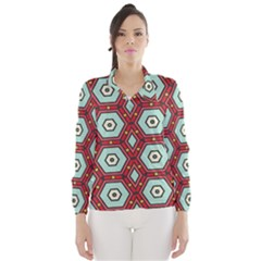Hexagons pattern Wind Breaker (Women)