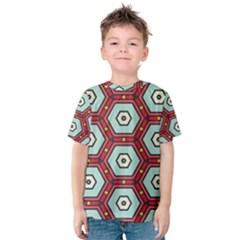 Hexagons pattern Kid s Cotton Tee