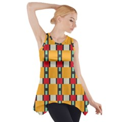 Wavy Design Side Drop Tank Tunic