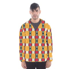 Rectangles and squares pattern Mesh Lined Wind Breaker (Men)