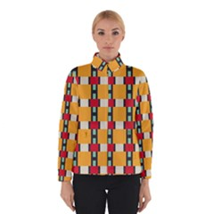 Rectangles And Squares Pattern Winter Jacket