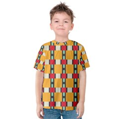 Rectangles and squares pattern Kid s Cotton Tee