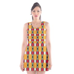 Rectangles and squares pattern Scoop Neck Skater Dress