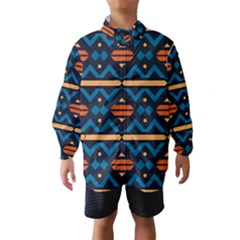 Rhombus  circles and waves pattern Wind Breaker (Kids)