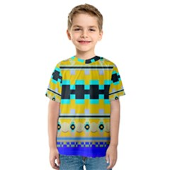 Rectangles and other shapes Kid s Sport Mesh Tee