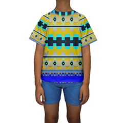 Rectangles and other shapes  Kid s Short Sleeve Swimwear