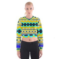 Rectangles and other shapes   Women s Cropped Sweatshirt