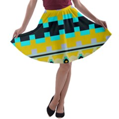 Rectangles and other shapes A-line Skater Skirt