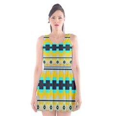 Rectangles And Other Shapes Scoop Neck Skater Dress