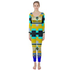 Rectangles And Other Shapes  Long Sleeve Catsuit
