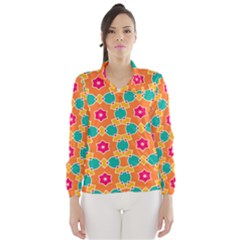 Pink Flowers Pattern Wind Breaker (women)