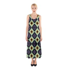Pixelated pattern Full Print Maxi Dress