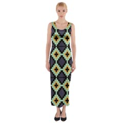 Pixelated pattern Fitted Maxi Dress
