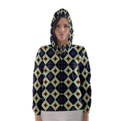 Pixelated pattern Hooded Wind Breaker (Women)