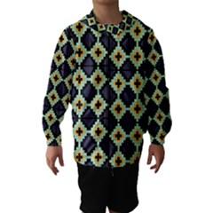 Pixelated pattern Hooded Wind Breaker (Kids)