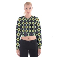 Pixelated pattern   Women s Cropped Sweatshirt