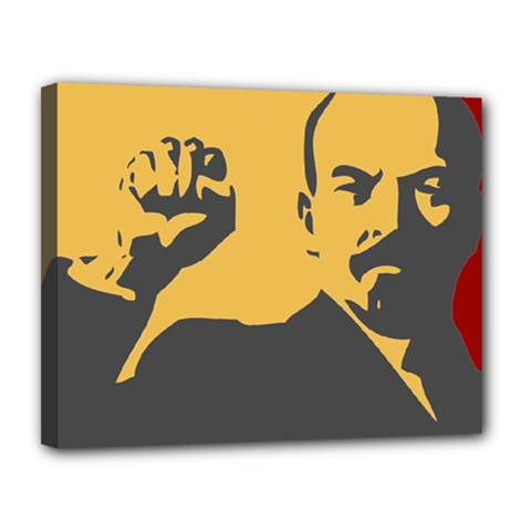 POWER WITH LENIN Canvas 14  x 11  (Framed)