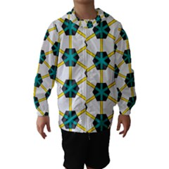 Blue stars and honeycomb pattern Hooded Wind Breaker (Kids)
