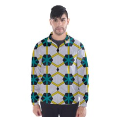Blue stars and honeycomb pattern Wind Breaker (Men)