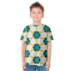 Blue stars and honeycomb pattern Kid s Cotton Tee