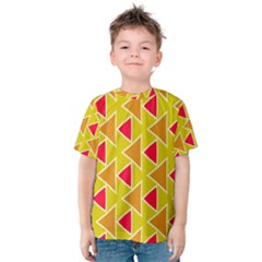 Red brown triangles pattern Kid s Cotton Tee