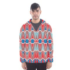 Rhombus And Ovals Chains Mesh Lined Wind Breaker (men)
