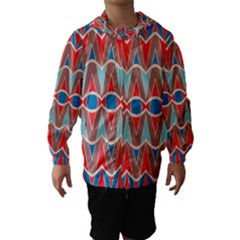 Rhombus and ovals chains Hooded Wind Breaker (Kids)
