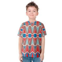 Rhombus and ovals chains Kid s Cotton Tee