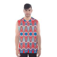 Rhombus and ovals chains Men s Basketball Tank Top