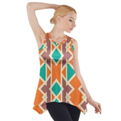 Rhombus Triangles And Other Shapes Side Drop Tank Tunic