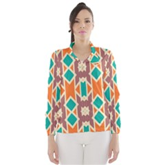 Rhombus Triangles And Other Shapes Wind Breaker (women)