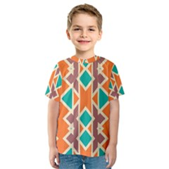 Rhombus triangles and other shapes Kid s Sport Mesh Tee