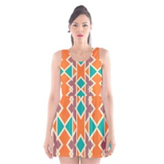 Rhombus Triangles And Other Shapes Scoop Neck Skater Dress